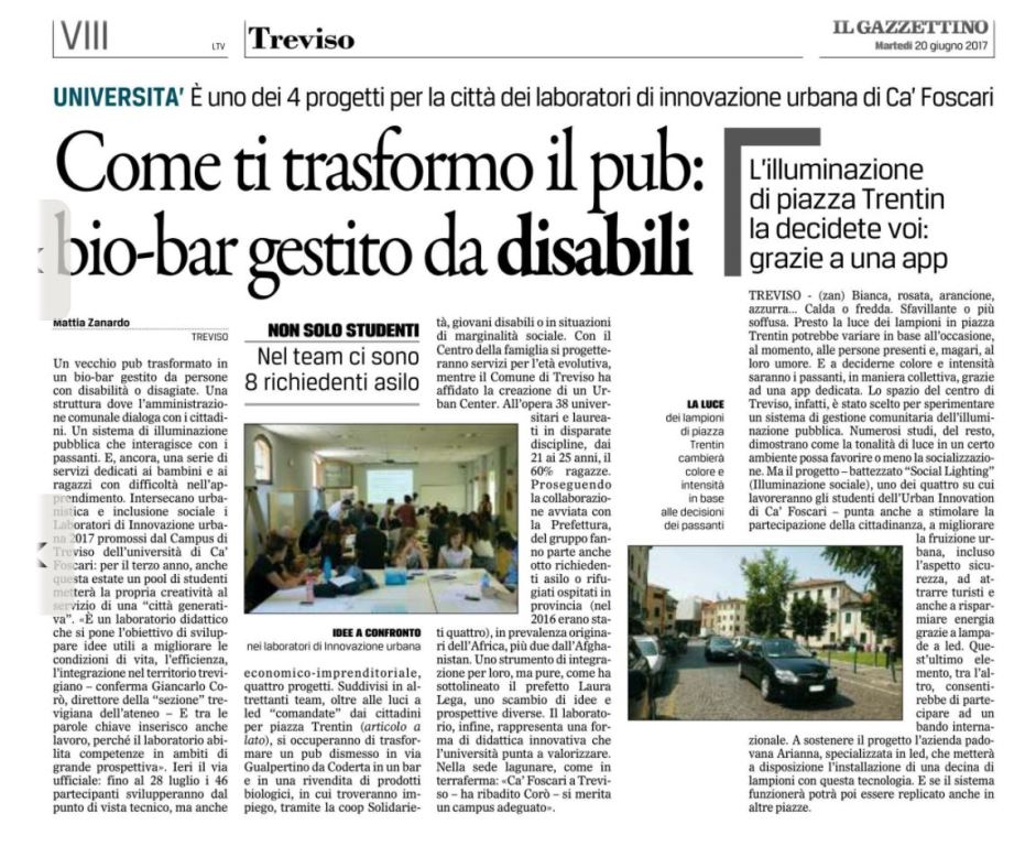 urbaninnovationcafoscari gazzettino_20.06.17_xl